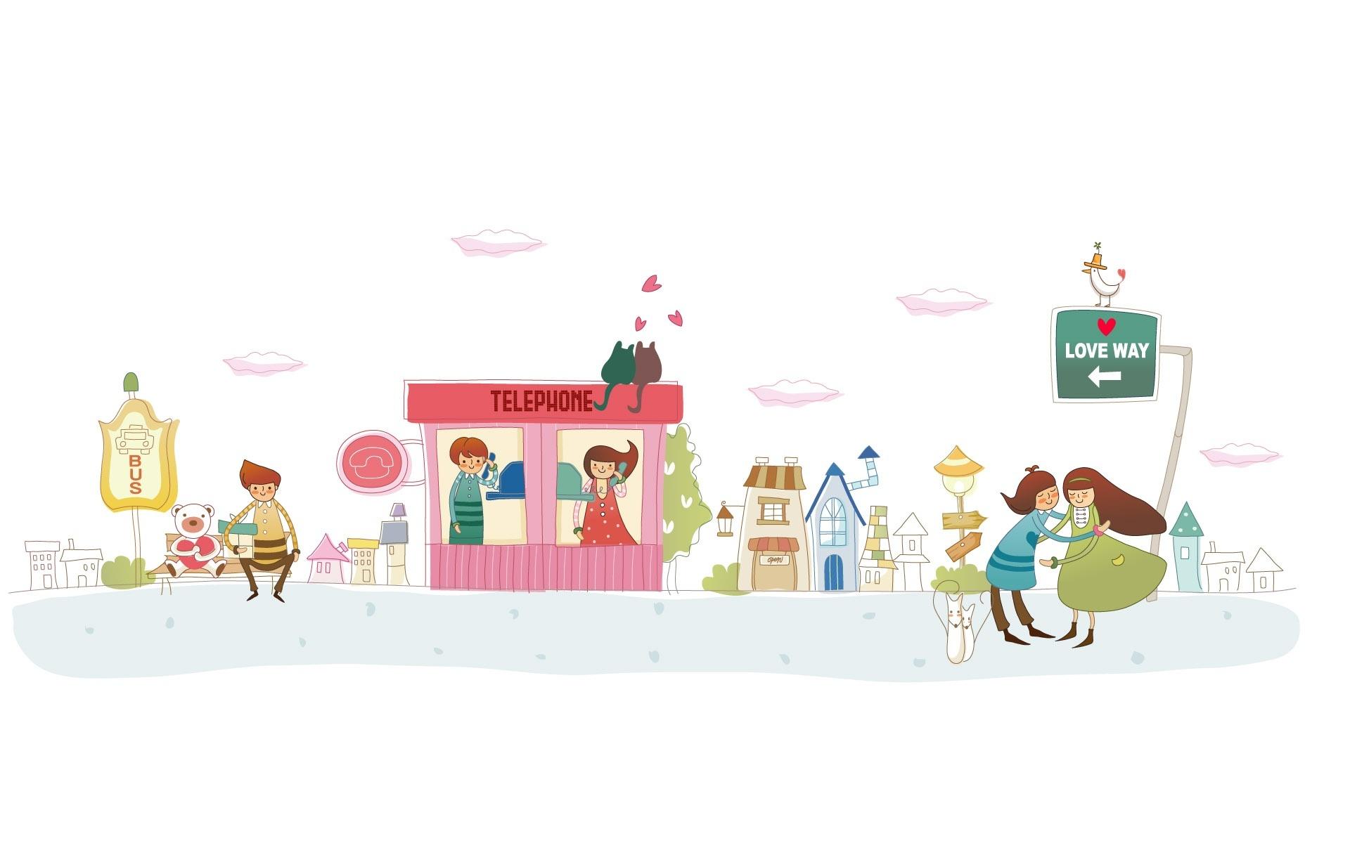 Szcz liwi ludzie grafika for Wallpaper home cartoon