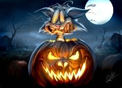 Halloween, Noc, Ksi�yc