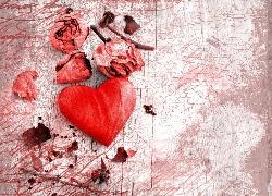 Serce, Serduszko, Walentynki, Suche, Kwiaty, R�a