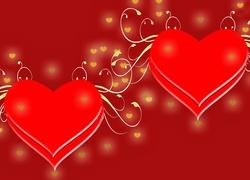 Walentynki, Dwa, Serca, Serduszka