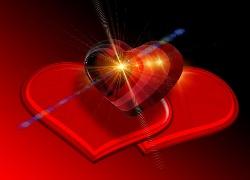 Walentynki, Serca, Promienie, Grafika