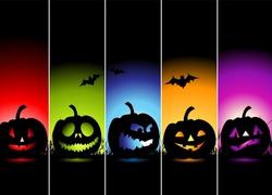 Kolorowe, Dynie, Halloween