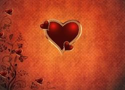 Grafika, Walentynki, Mi�osne, Serca, Serduszka