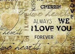 Walentynki, Serca, Napisy, Grafika 2D