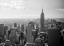 Puzzle  Nowy  Jork  Czarno  Bia  E  Zdj  Cie