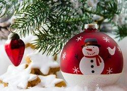 Dekoracja, Boże Narodzenie, Bombka, Ciastka
